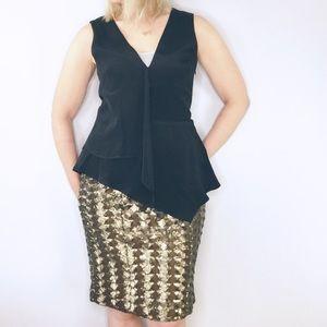 Hunter Bell bronze chevron sequin Brody skirt